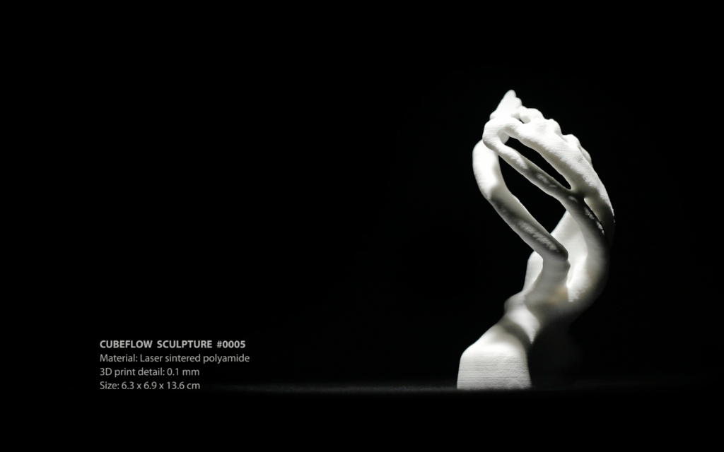 CubeFlow Sculpture #0005 (3D print)
