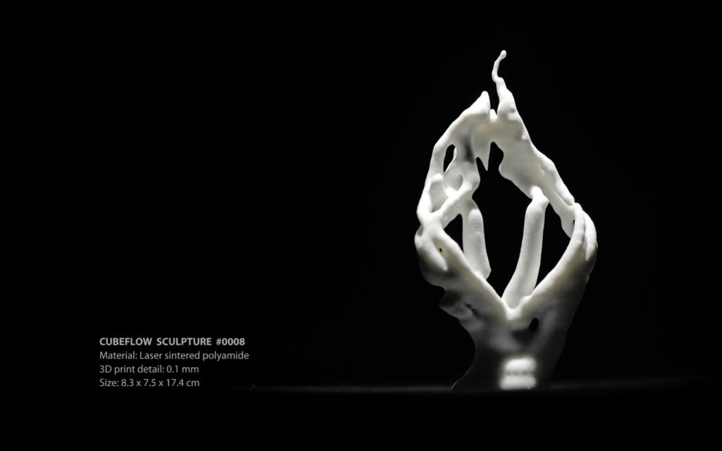 CubeFlow Sculpture #0008 (3D print)