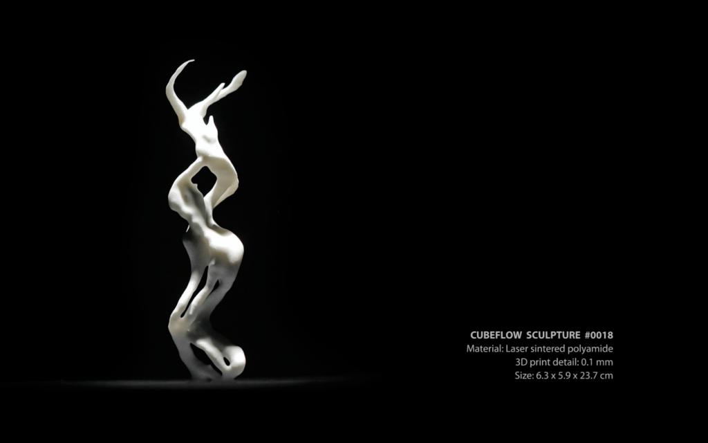 CubeFlow Sculpture #0018 (3D print)